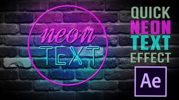 After Effects Tutorial: Neon Text Animation in After Effects 2018