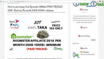 How to earn money from Roomster Affiliate 2018 – Best one Per month 200-1000+ minimum