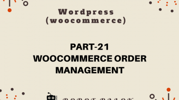 Ecommerce site in WordPress woocommerce part-21