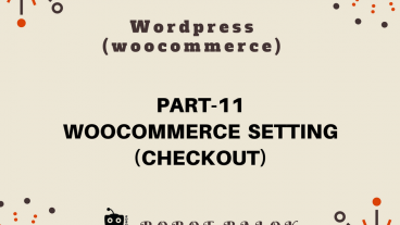 Ecommerce site in WordPress woocommerce part-11