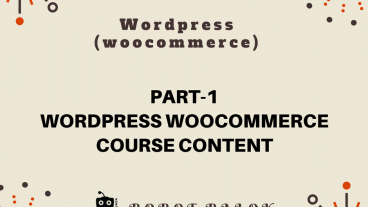 Ecommerce site in WordPress woocommerce part-1