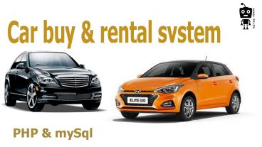Car buy and rental website in php amp mysql