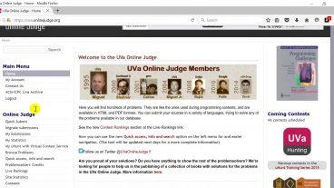 ইউভিএ অনলাইন জাজ এর প্রবলেম সলভ নিয়ে কিছু টিউটোরিয়াল UVA Online Judge
