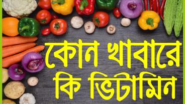কোন খাবারে কোন ভিটামিন: পুষ্টি ও খাদ্য তালিকা নিয়ে অসাধারণ একটি বাংলা অ্যান্ড্রয়েড Apps