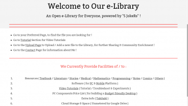e-Library by 5 JokeRs