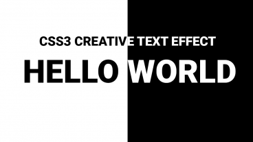 CSS3 Black And White Creative Text Effect