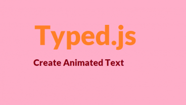 অ্যানিমেটেড টেক্সট তৈরি করুনTyped js