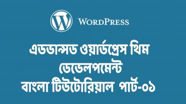Advance WordPress Theme Development Tutorial:: [পর্ব-০১] অভারভিউ এবং প্রাইমারী সেটআপ