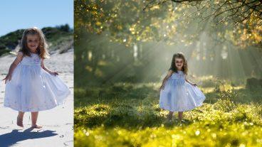 ফটোশপ ম্যানিপুলেশন টিটোরিয়াল Little Girl Photo Manipulation with Light Rays Effect