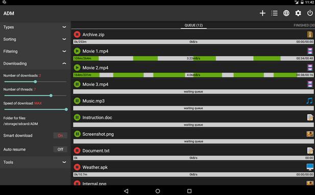 এন্ড্রয়েড এর জন্য এ ডি এম android download manager যা হুবহু পিসির আই ডি এম এর মত পেইড ফুল ভার্সন