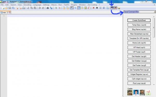ওয়েব ডেভোলপারদের জন্য একটি গুরত্বপূর্ণ প্লাগইনস Notepad++ এর Darad WP Coding.