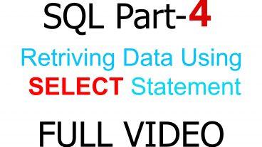 SQL দ্বিতীয় ৪র্থ পর্ব। Retrieving data using SELECT statement