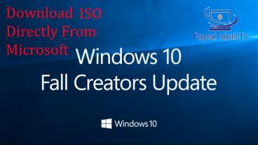 ডাউনলোড করে নিন জানালা ১০ এর লেটেস্ট ভার্সন Fall Creators Update এর ISO সরাসরি মাইক্রোসফট থেকে।