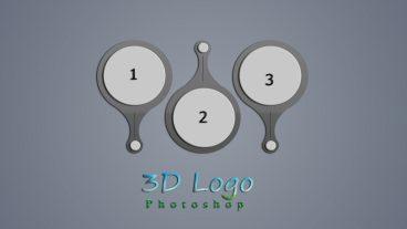 ফটোশপে 3D Infogrpahic Logo Design colorful  করুন খুব সহজ পদ্ধতিতে