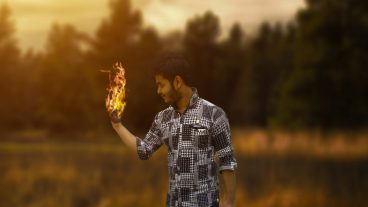 Photoshop Tutorial Photo Manipulation Change Background & fire effect
