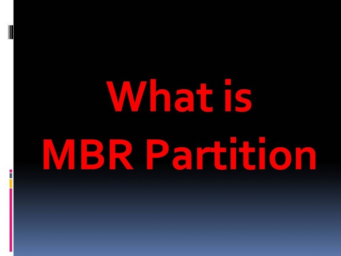 What is MBR Partition in BIOS (MBR পার্টিশন কি?)?