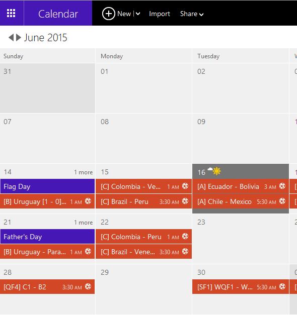 যেভাবে আপনার উইন্ডোজ ফোনের ক্যালেন্ডার এ Copa America Football match গুলোর Schedule add করবেন।।