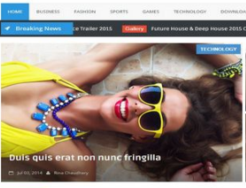 Hot mag Responsive Blogger Template