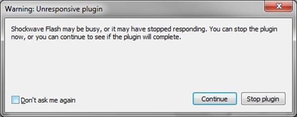 """Warning: Unresponsive plugin"" Firefox-এর, এই মেসেজ-টির সাথে কে কে পরিচিত"