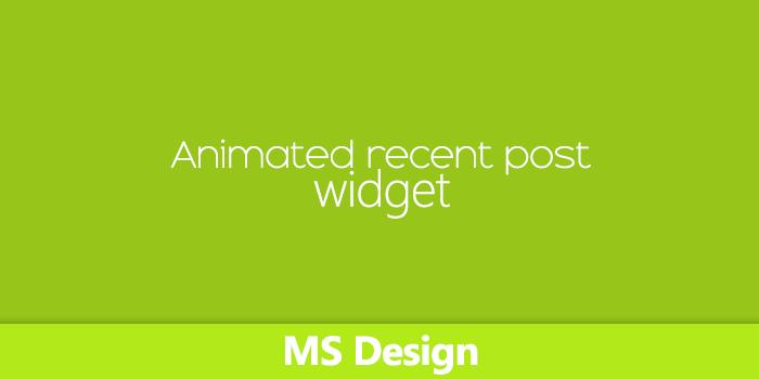 ব্লগস্পট সাইটে যুক্ত করে নিন অসাধারণ একটি Animated Recent Post Widget