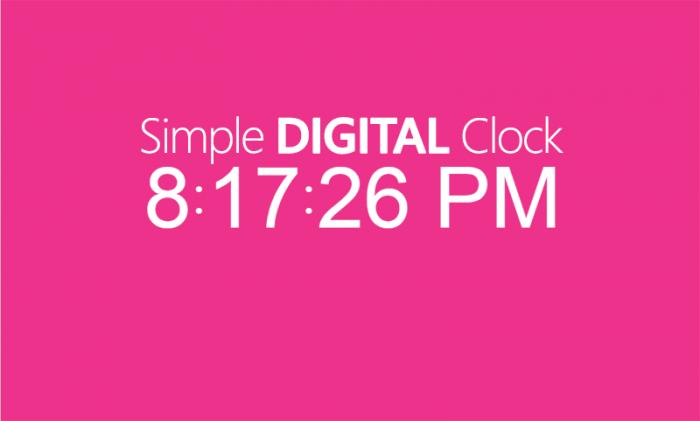 """ব্লগস্পট সাইটে যুক্ত করে নিন """"Simple Digital Clock"""""""