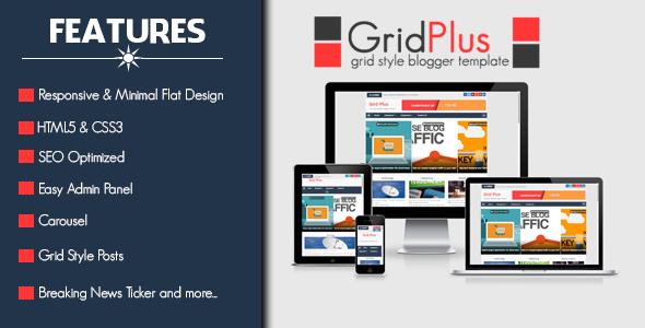 Grid Plus – অসাধারণ একটি রেস্পন্সিভ ব্লগার টেমপ্লেট ফ্রী ডাউনলোড করে নিন।