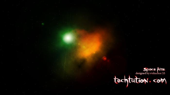ফটোশপ দিয়ে তৈরি করুন কল্পনার স্পেস ফায়ার(space fire)