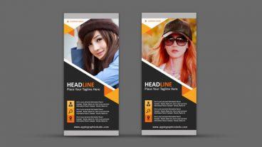 কিভাবে তৈরি করবেন একটি ক্রিয়েটিভ রোল আপ ব্যানার – Creative Roll Up Banner Design – Photoshop Tutorial
