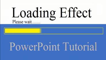 পাওয়ার পয়েন্ট দিয়ে সহজেই Loading Effect তৈরী করুন।