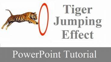 পাওয়ার পয়েন্ট দিয়ে সহজেই Tiger Jumping Effect তৈরী করুন।