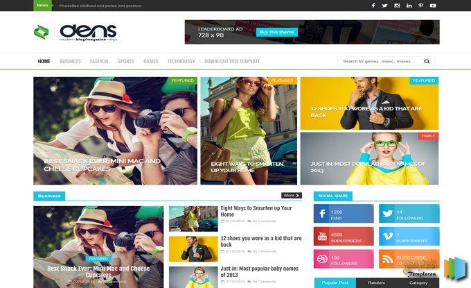 ব্লগস্পটের জন্য নিয়েনিন অসাধারণ একটি টেমপ্লেট Den blogspot blogger template