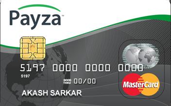 payza বাংলাদেশ এর জন্য চালু করলো International  Master Card