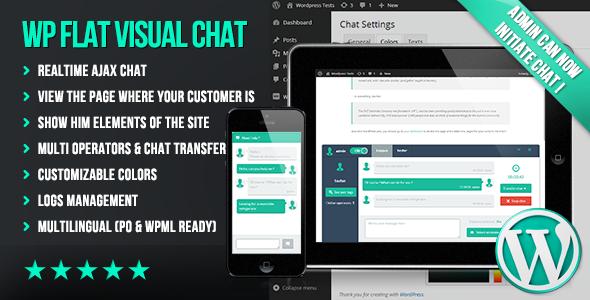 ওয়ার্ডপ্রেস 'Flat Visual Chat' প্লাগিং