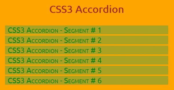 CSS3 দিয়ে jQuery Accordion তৈরি!
