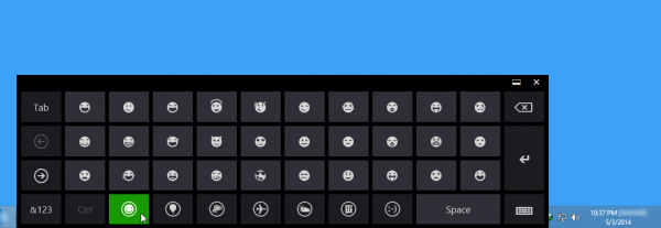 Windows 8 এর Built-in Emotion Keyboard