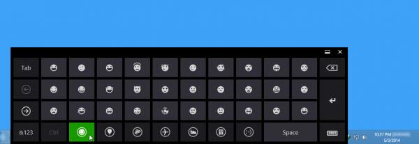 Windows 8 এর Built-in Emotion Keyboard