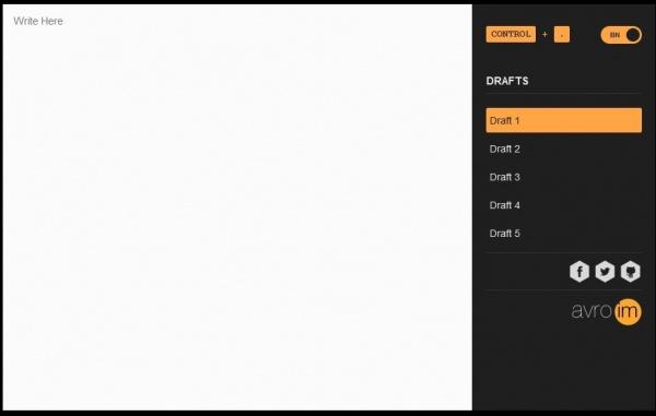 Avro.im, ব্রাউজারে অনলাইন কিংবা অফলাইনে Unicode Writing Pad
