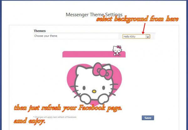 Change Old Facebook Chat box background.