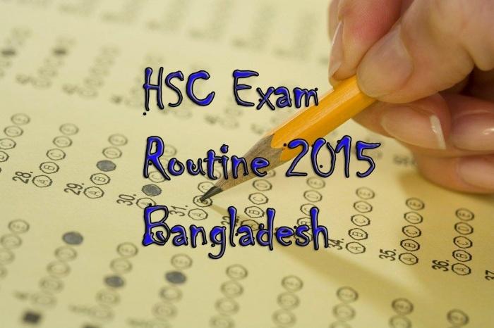 """নিয়ে নিন """"HSC Exam Routine 2015 BD"""" এন্ড্রয়েড অ্যাপসটি"""