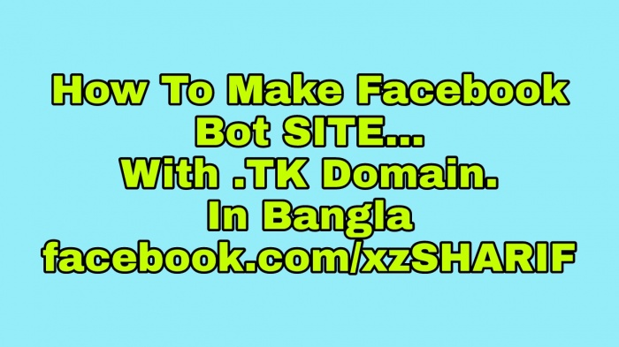 How To Make Facebook BotSite 2017 With Domain (কিভাবে বুটসাইট বানাবেন ২০১৭ সাথে ডোমেইন)