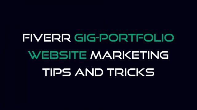 আসুন খুব সহজে Fiverr Gig/Portfolio/Website মার্কেটিং শিখি!!!