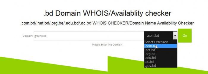 দেখুন যেকোনো .com.bd (dot bd) ডোমেইন এর whois ইনফরমেশন এবং availability।
